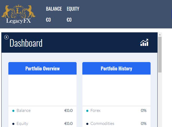 LegacyFX Traders Dashboard