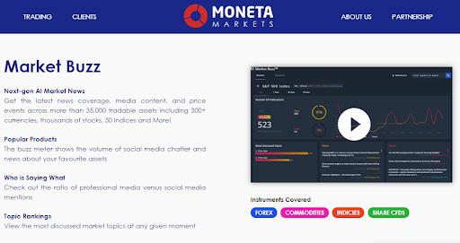 Moneta Markets Traders Dashboard
